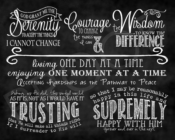 Full Serenity Prayer